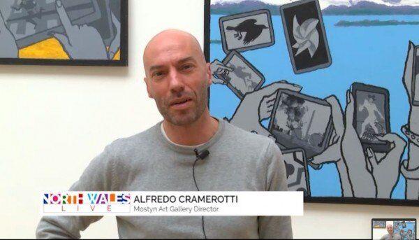 Alfredo Cramerotti on Derek Boshier's Exhibition | North Wales TV