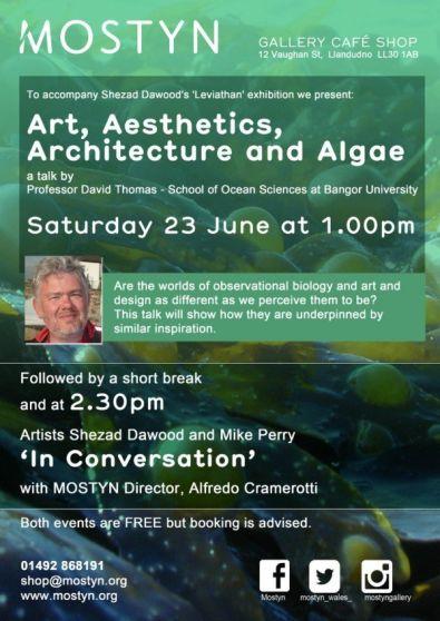 Art, Aesthetics, Architecture and Algae | a talk by Professor David Thomas