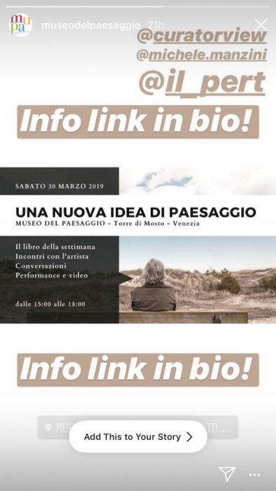 Museo del Paesaggio, Torre di Mosto, Venice: A Conversation on Performance and Video