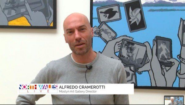 Alfredo Cramerotti on Derek Boshier's Exhibition | North Wales TV